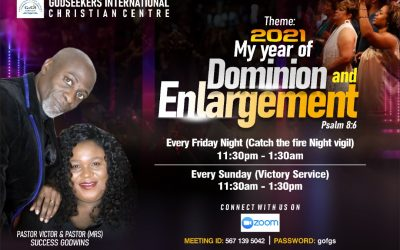 2021 My Year of Dominion and Enlargement