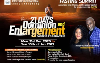 21 Days Dominion and Enlargement